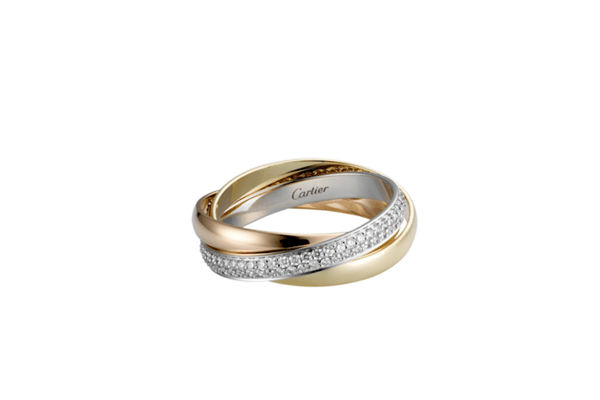 cartier yellow gold rings