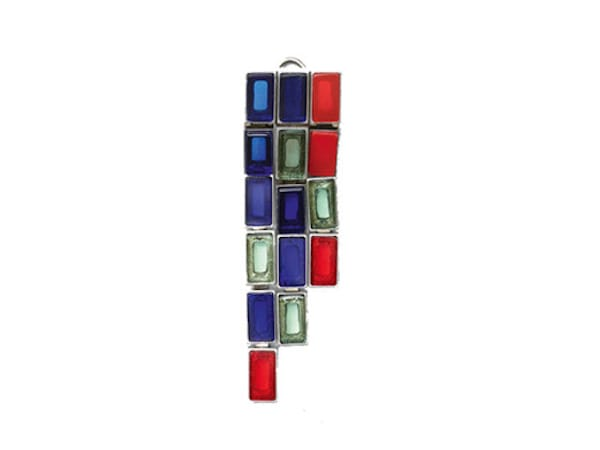 CELINE Stained glass earrings