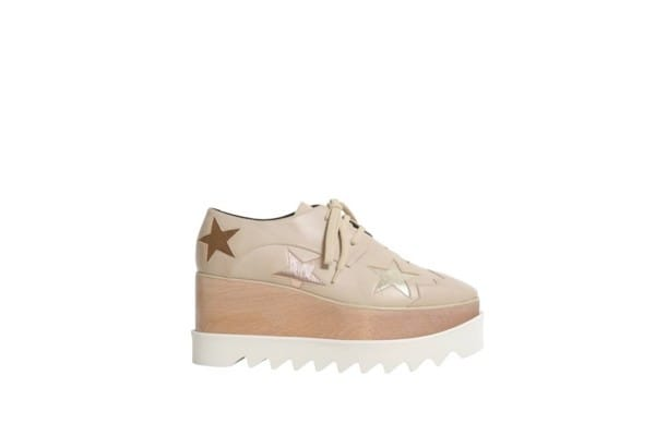 Stella MacCartney Beige with stars platform sneakers