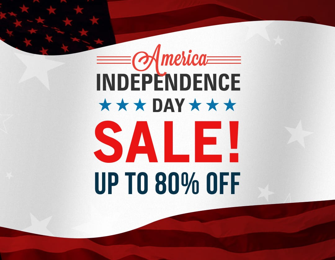 INDEPENDENCE DAY SALE UP TO 80% OFF
