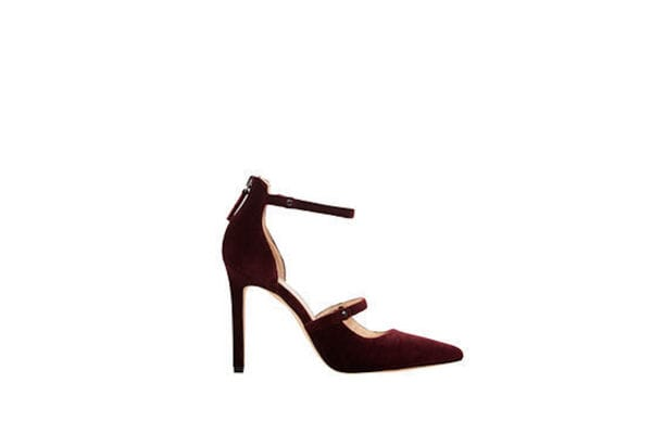 Nine West Red velvet heels